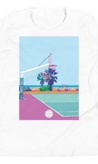 """Poetto Court"" Youth Short Sleeve T-Shirt"