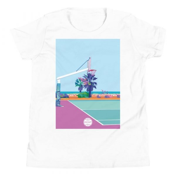"""""""Poetto Court"""" Youth Short Sleeve T-Shirt"""